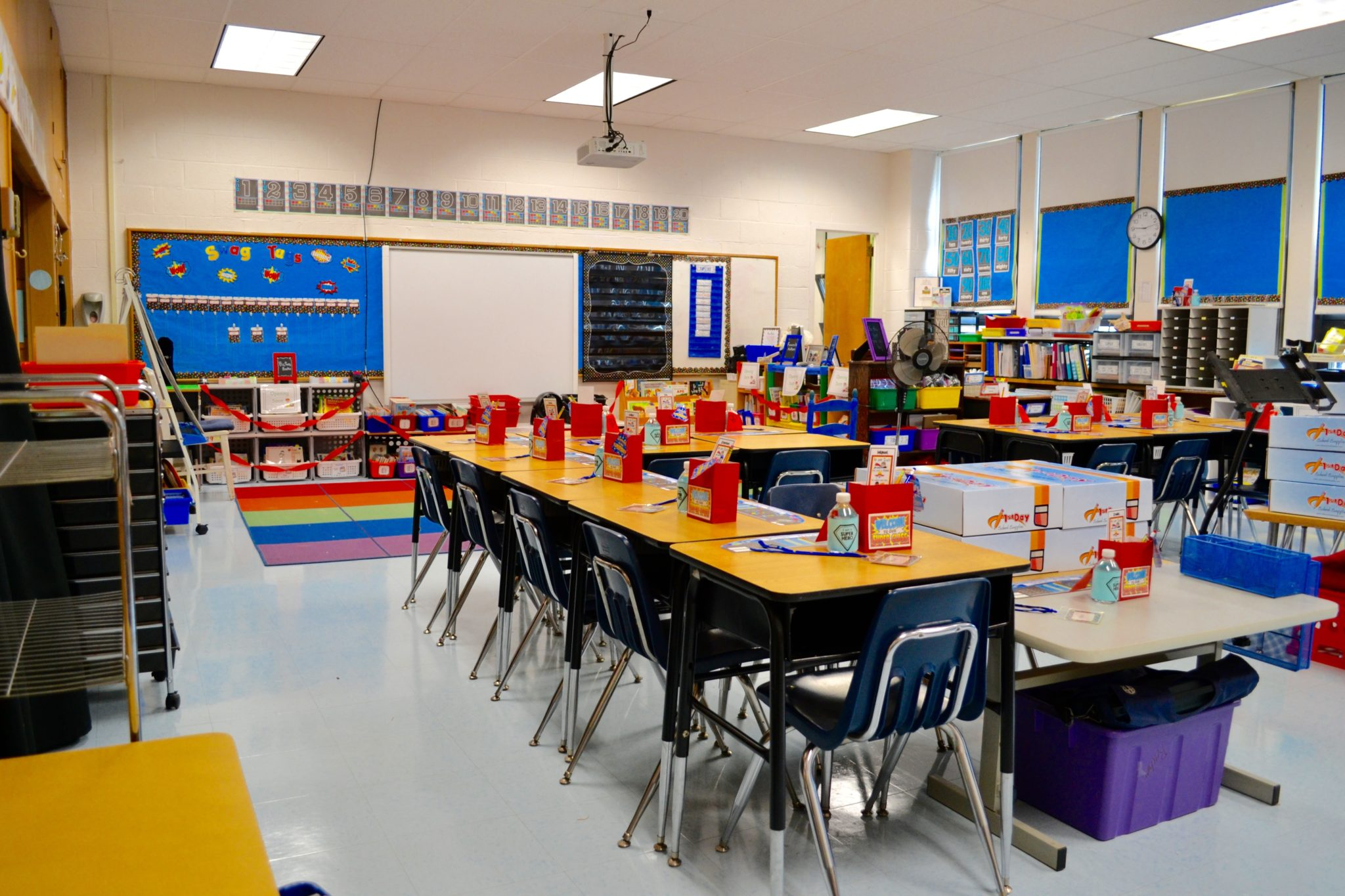 Clarke school classroom ready for the first day